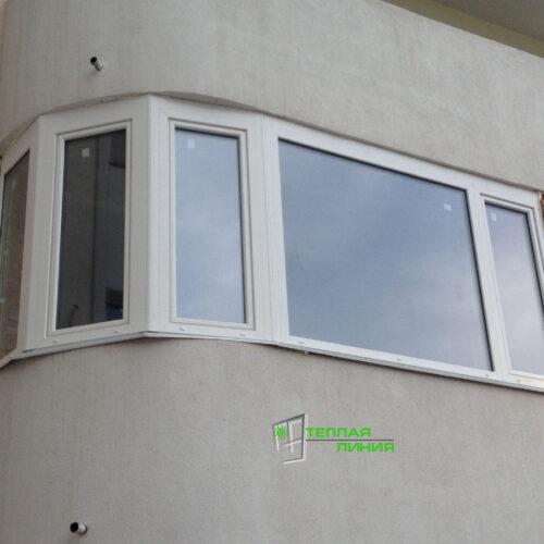 Установка нестандартной балконной рамы